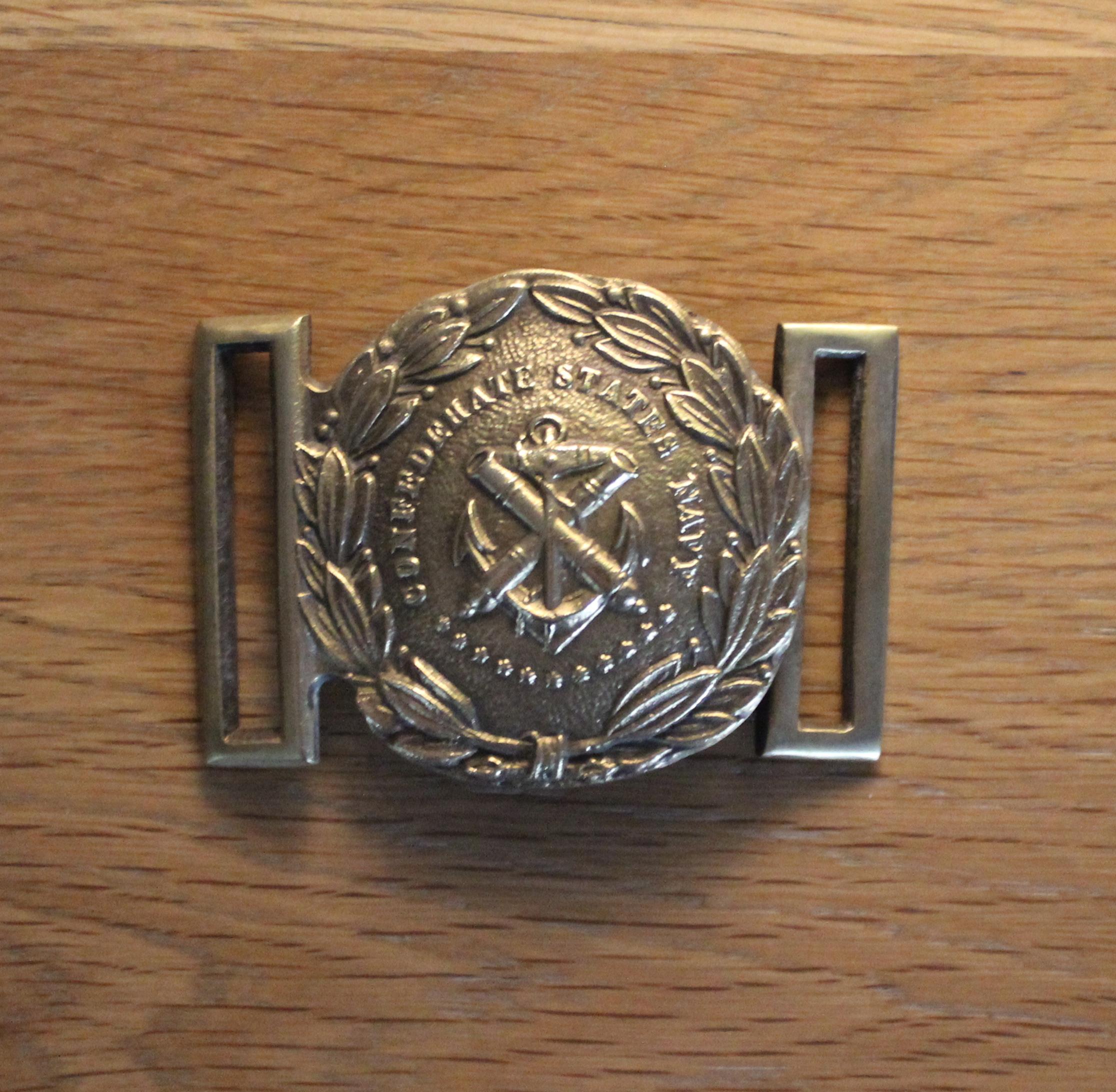 Confederate States Navy 2 Piece Buckle